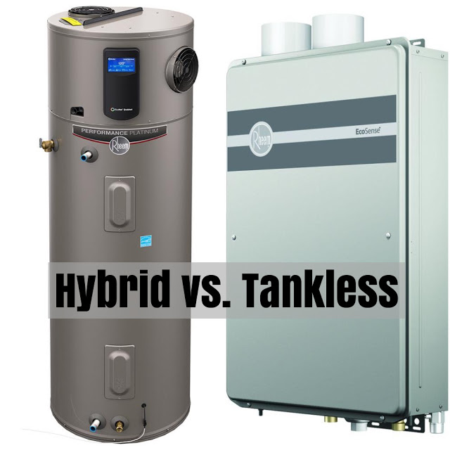 Hybrid Water Heater Versus Tankless Water Heating